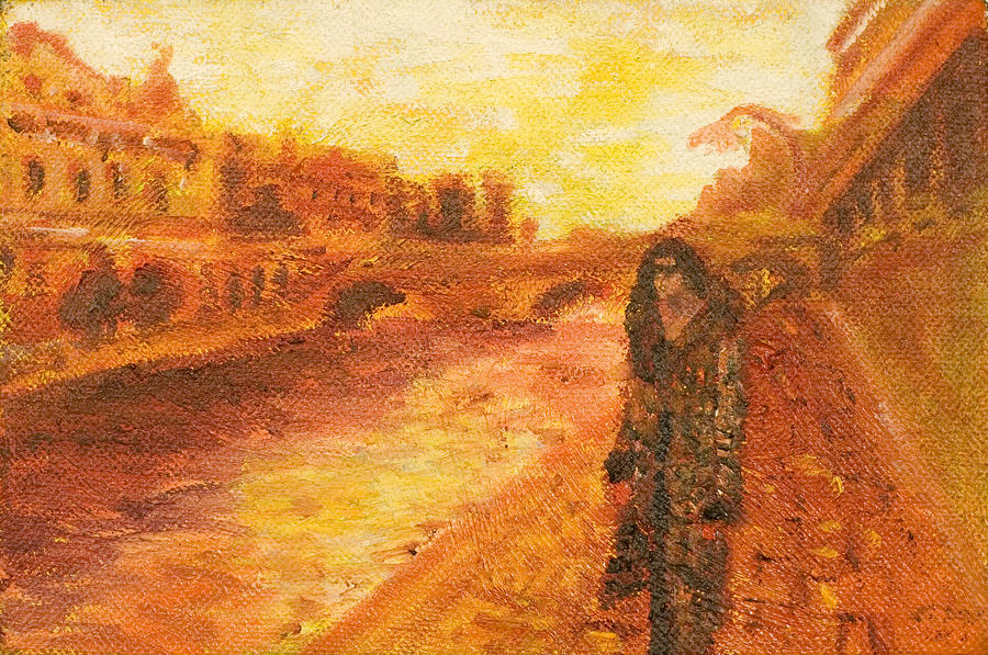 Cityscape Painting - La Seine by LB Zaftig