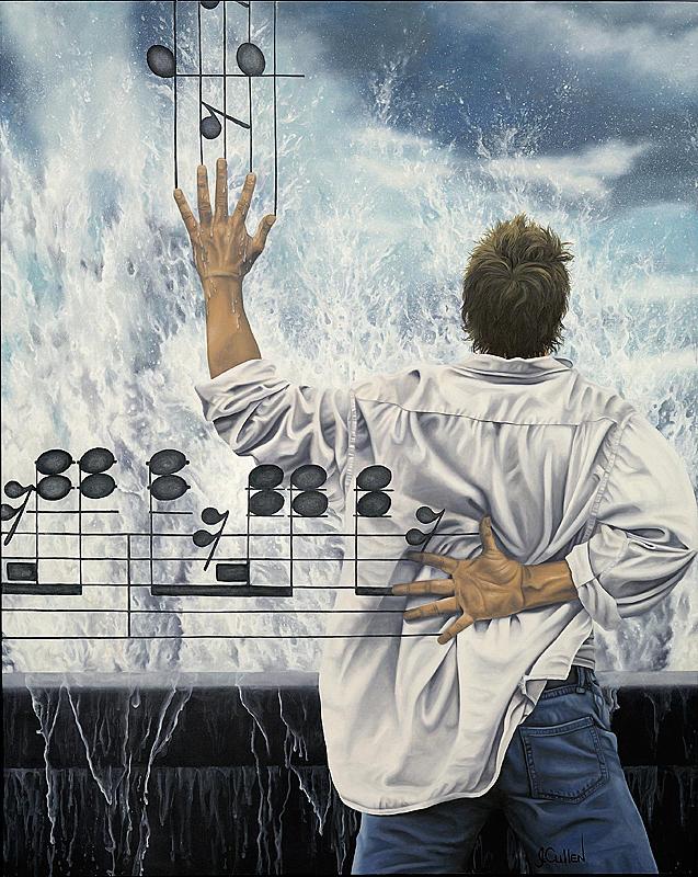 Musical Painting - La Septieme by Johanne Cullen