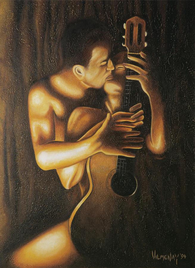Acrylic Painting - La Serenata by Arturo Vilmenay