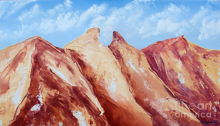 Mountains Painting - La Silla Six by Kandyce Waltensperger