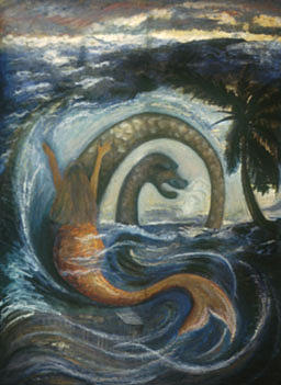 Haitian Painting - La Sirene Rabbah by Barbara Nesin