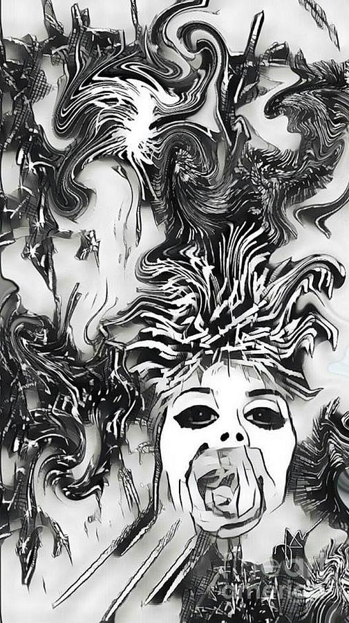 Contemporary Digital Art - La Solitude De Lamour by Diane Holman