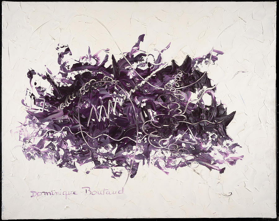Abstract Painting - La Solitude by Dominique Boutaud