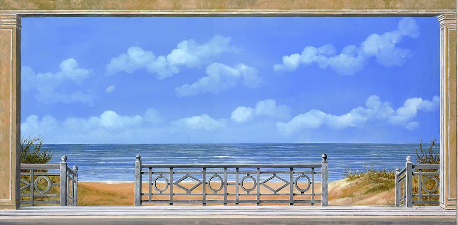 La Spiaggia Sotto Le Nuvole Painting
