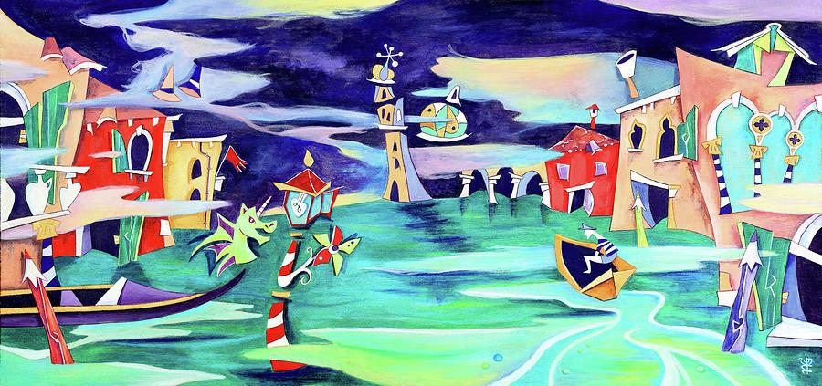 Temporale Painting - La Tempesta - Grand Canal Palace by Arte Venezia