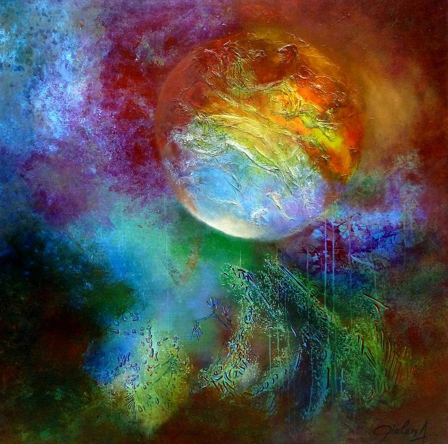 Abstract Painting - La Terre Des Promesses by Bielen Andre
