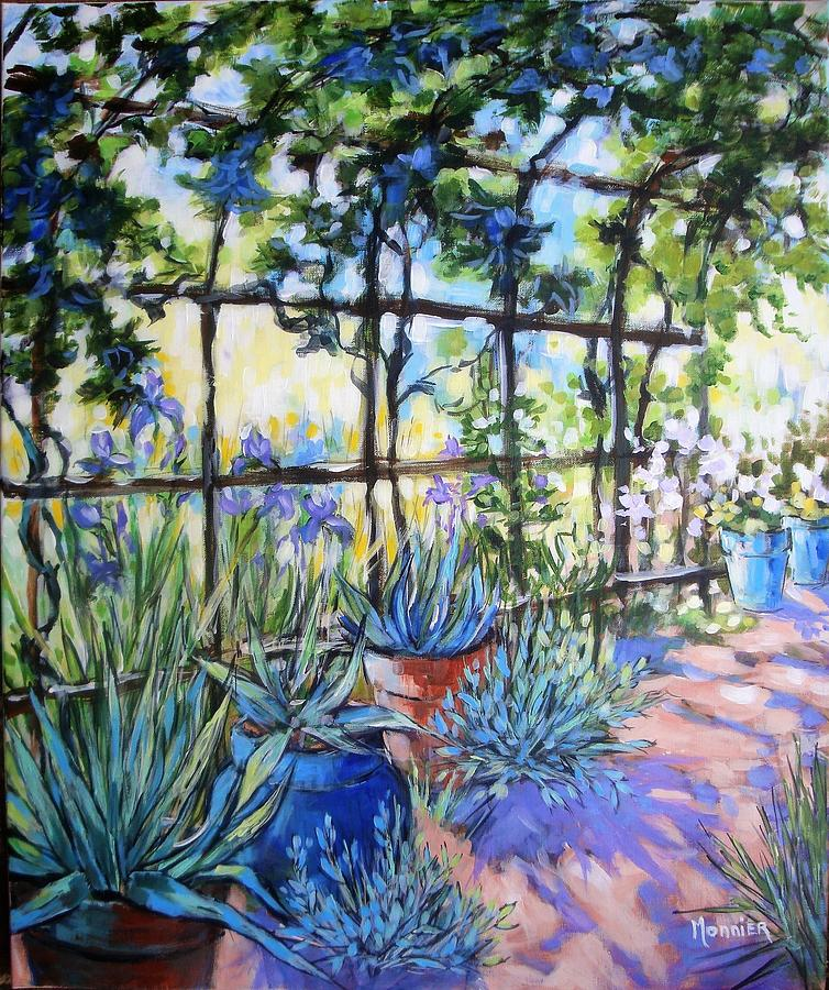Acrylic Painting Painting - La Tonnelle The Arbor by Cathy MONNIER