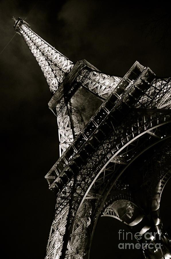 Eiffel Photograph - La Tour A Nuit by Louise Fahy