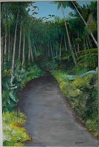 La Vereda Del Yunque Painting by Charles De SanJuan