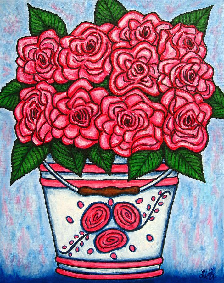 Rose Painting - La Vie En Rose by Lisa  Lorenz