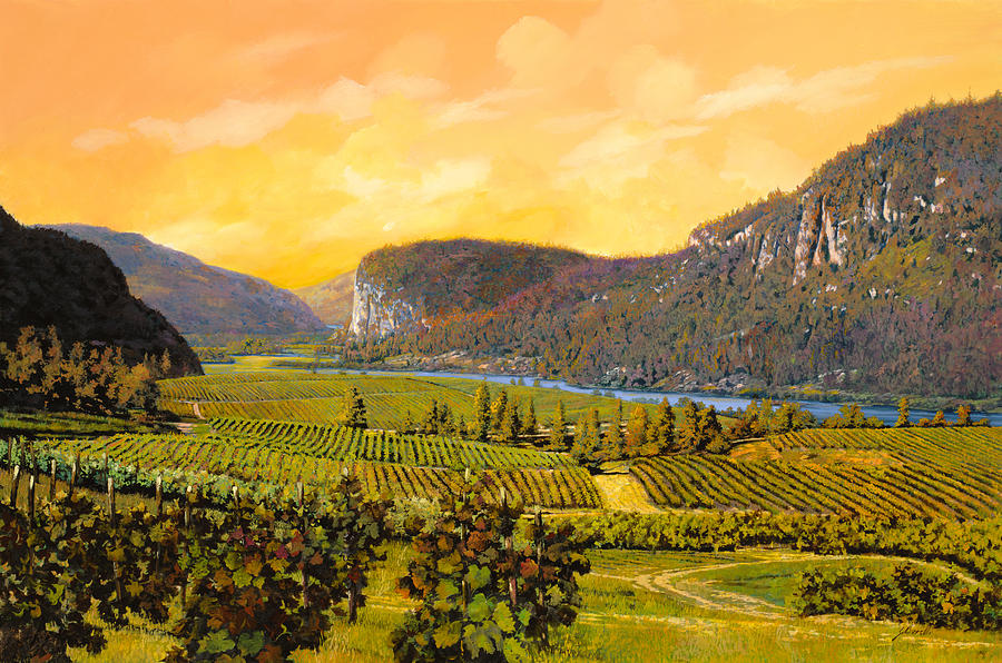 Wine Painting - La Vigna Sul Fiume by Guido Borelli