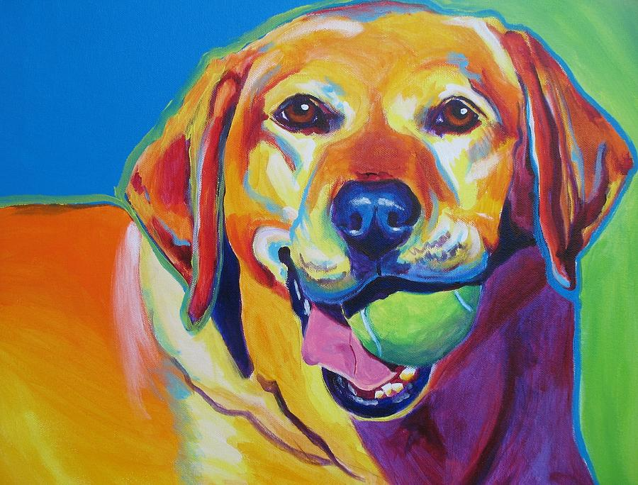 Lab bud painting by alicia vannoy call for Dog painting artist