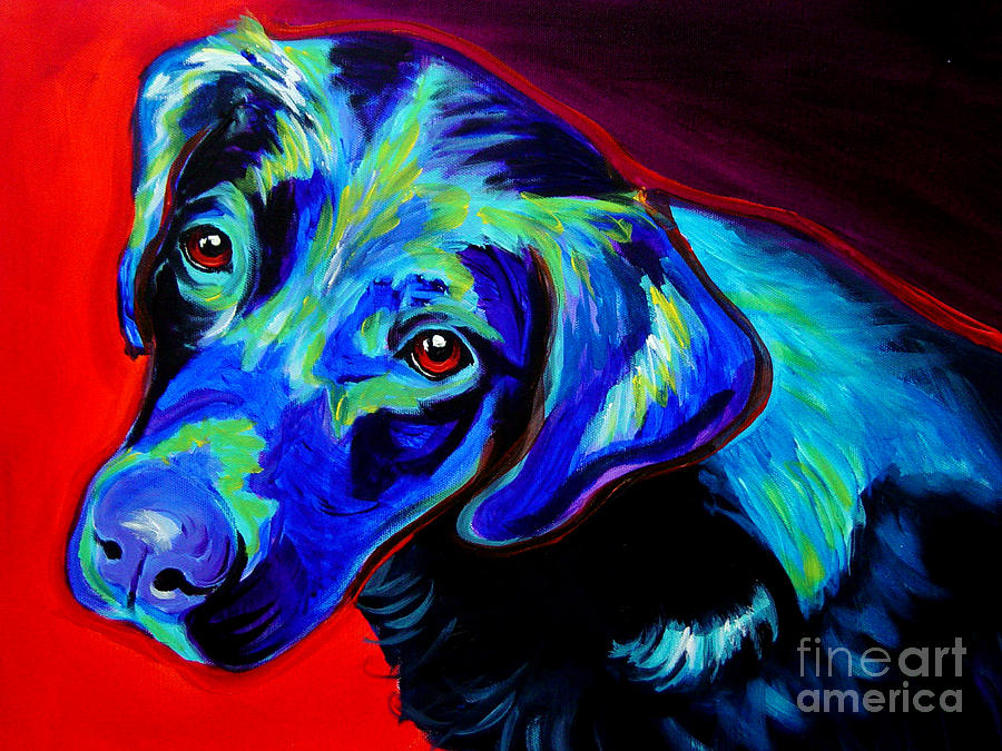 Dog Painting - Lab - Canyon by Alicia VanNoy Call