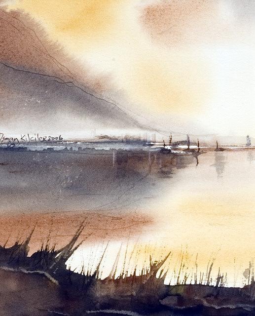 Landscape Painting - Labndscape 7 by Osman Kilciler