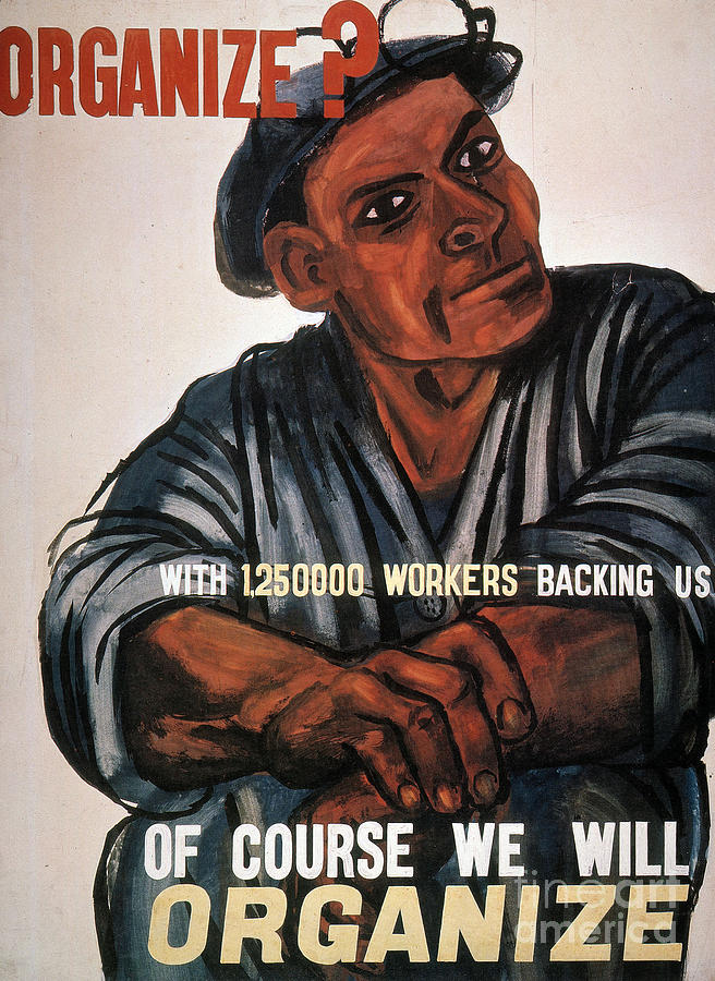 1930s Photograph - Labor Poster, 1930s by Granger