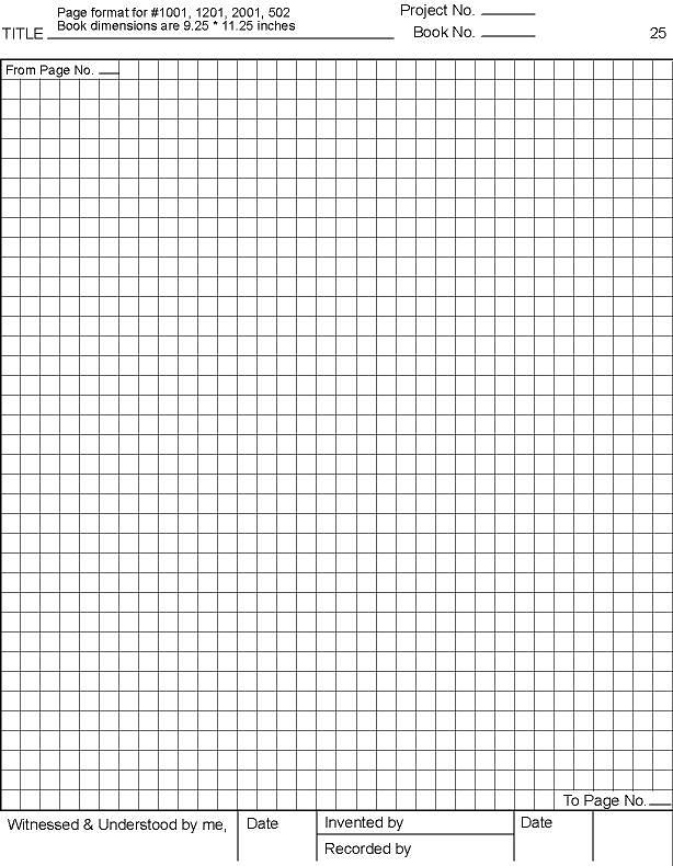 laboratory notebook format