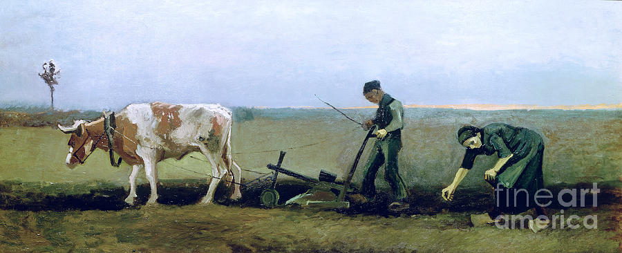 Labourer Painting - Labourer And Peasant  by Vincent van Gogh