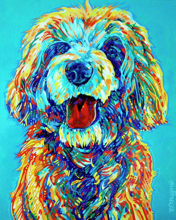 Dog Painting - Labradoodle by Derrick Higgins