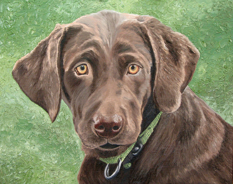 Chocolate Painting - Labrador Retriever by Frank Wuts