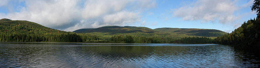 Quebec Photograph - Lac Monroe Panorama at Mont-Tremblant National Park Quebec Canada by Andrei Filippov