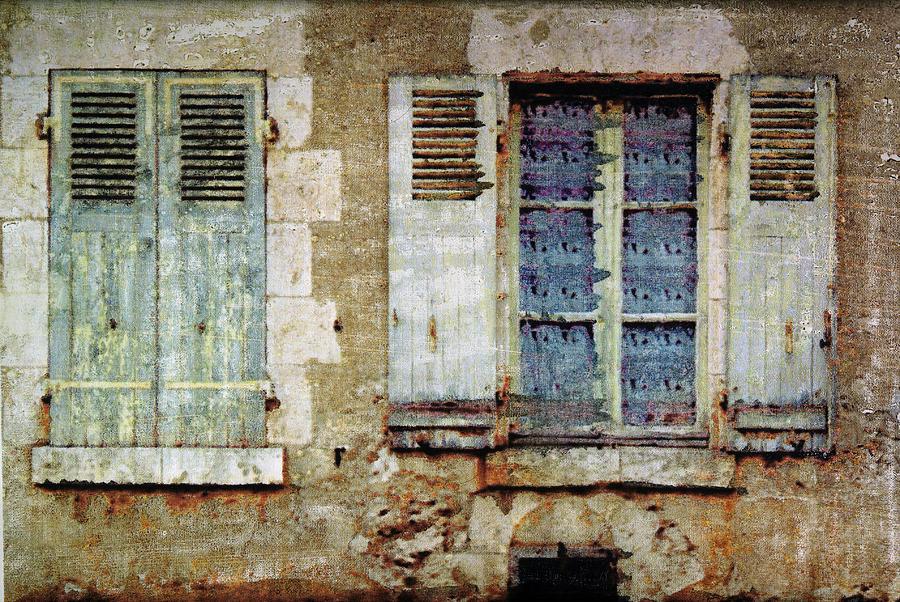 Window Mixed Media - Lace Window by Bob Senesac