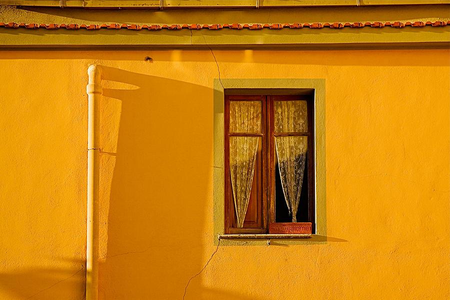 Window Photograph - Lace Window by John Daly