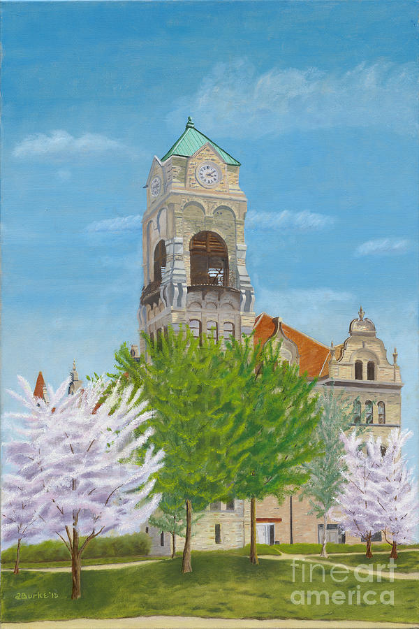 Scranton Painting - Lackawanna County Courthouse by Austin Burke