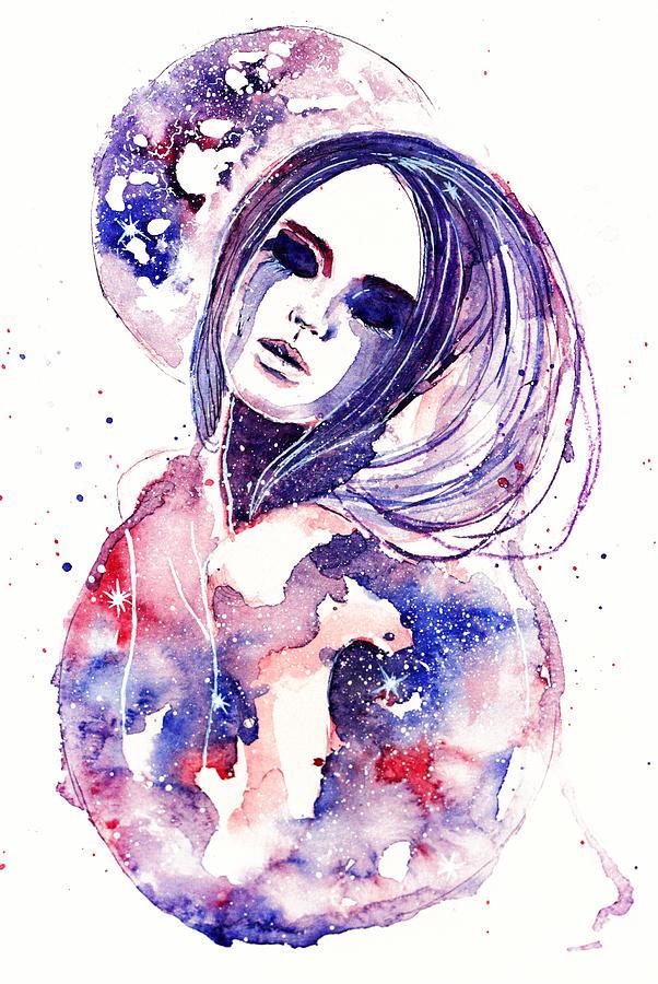 Lacrima Painting - Lacrima Nebula  by Alexandra-Emily Kokova