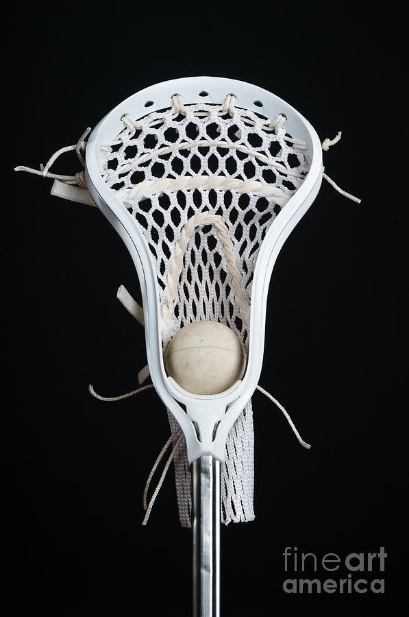 Athletics Photograph - Lacrosse Head With Ball by Ben Haslam