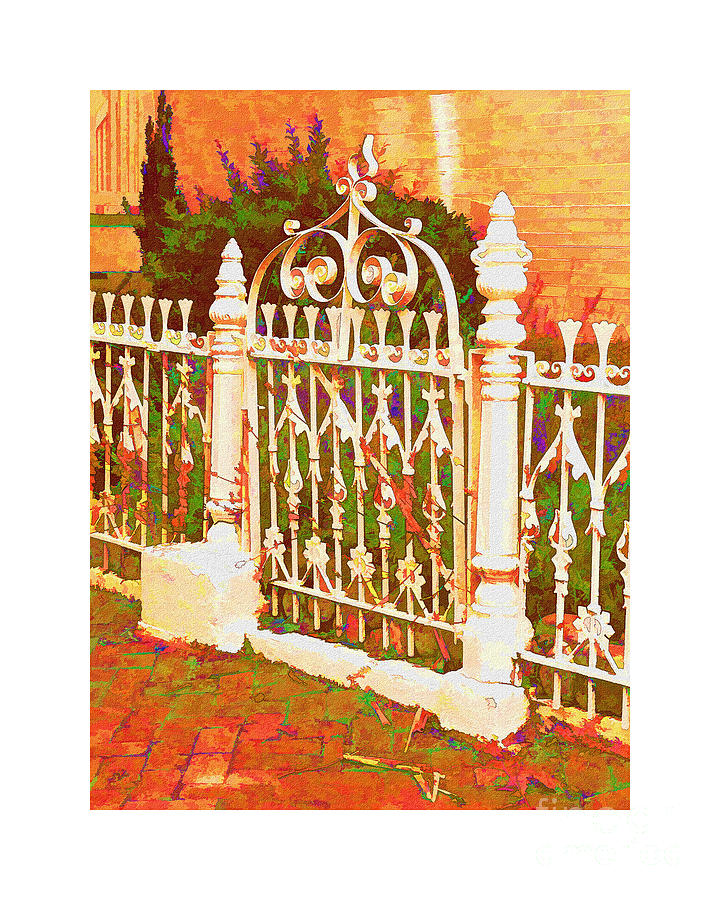 Victorian Painting - Lacy Garden Gate by Betsy Foster Breen