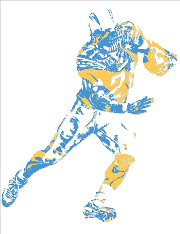 Ladainian Tomlinson San Diego Los Angeles Chargers Pixel Art 1