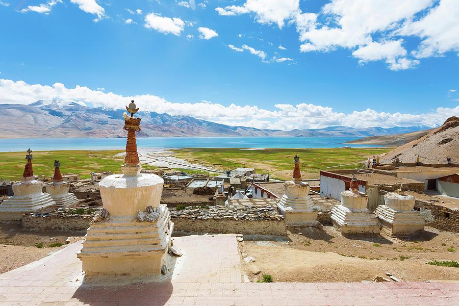 Tso Photograph - Ladakh Tso Moriri Lake Korzok Village High View by Pius Lee