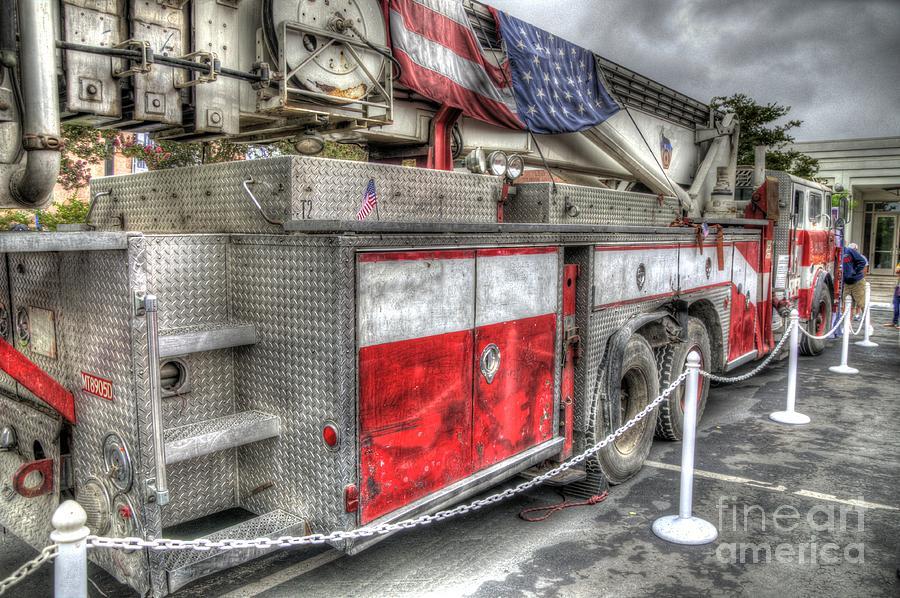 Fire Truck Photograph - Ladder Truck 152 - 9-11 Memorial by Eddie Yerkish
