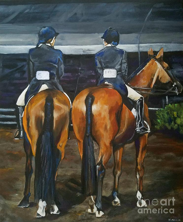 Ladies at Sussex Hunt Night by Kathy Laughlin