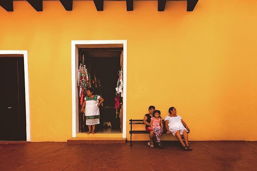 Hispanic Photograph - Ladies In Valladolid by Marji Lang