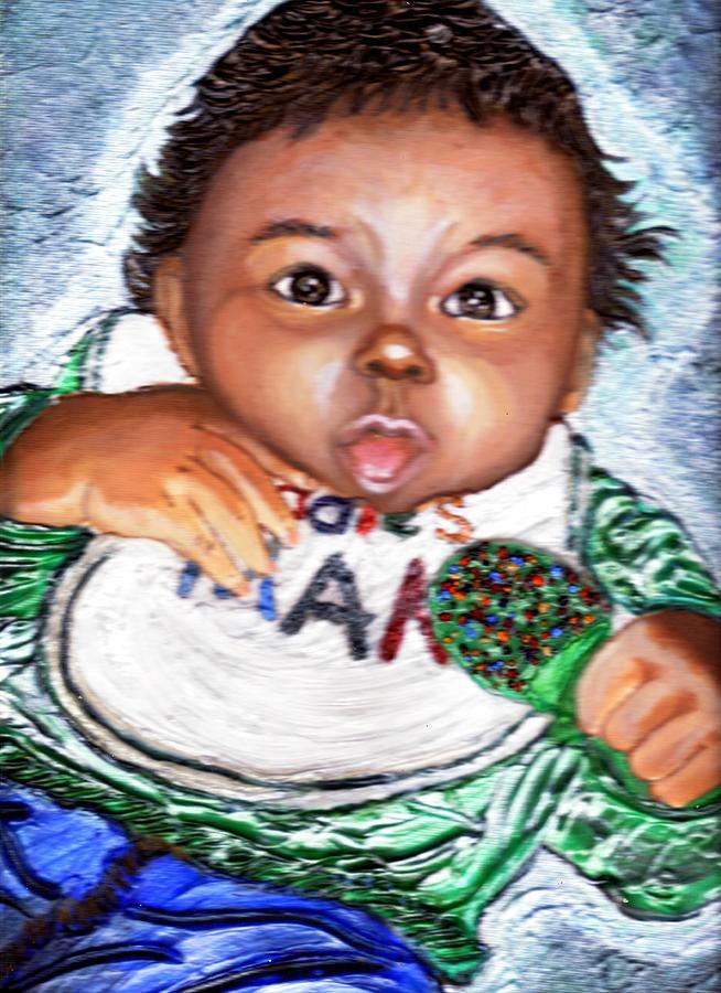 Keenya Woods Painting - Ladies Man  by Keenya  Woods