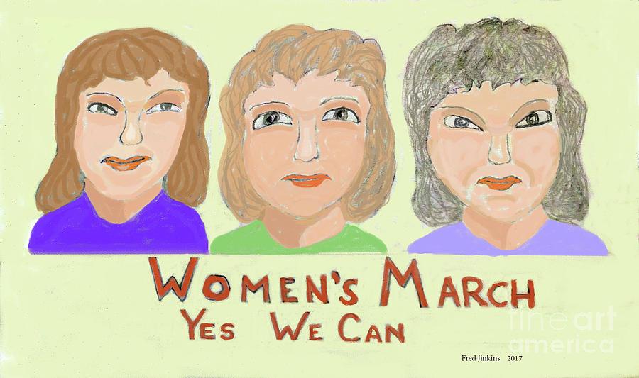 Ladies Marching Digital Art by Fred Jinkins