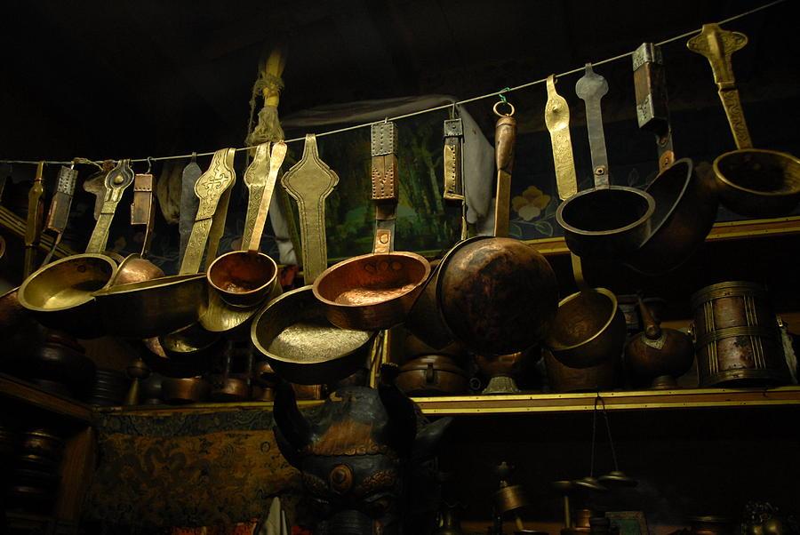 Tibet Photograph - Ladles Of Tibet by Donna Caplinger