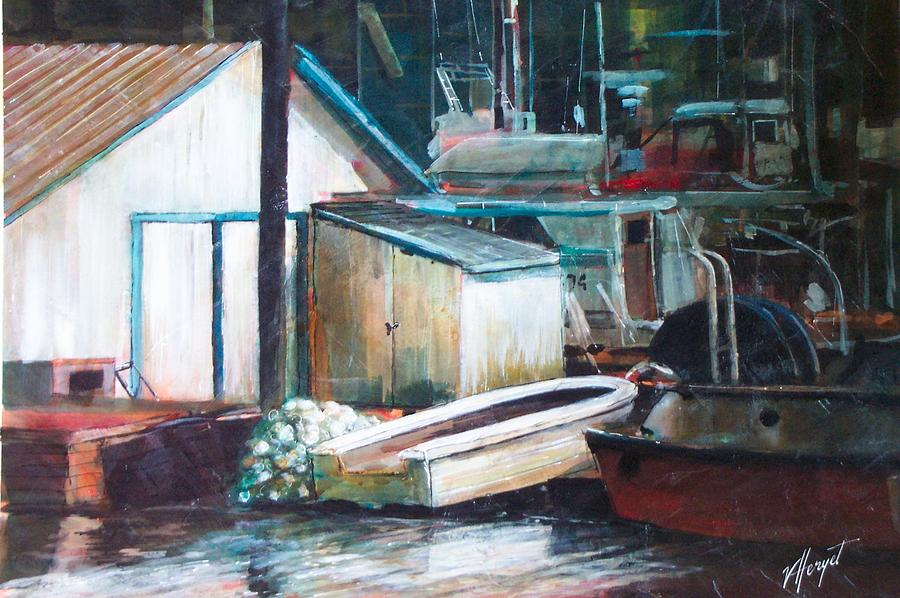 Harbour Painting - Ladner Harbour by Victoria Heryet