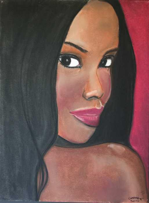 Portrait Painting - Lady 2 by Garnett Thompkins