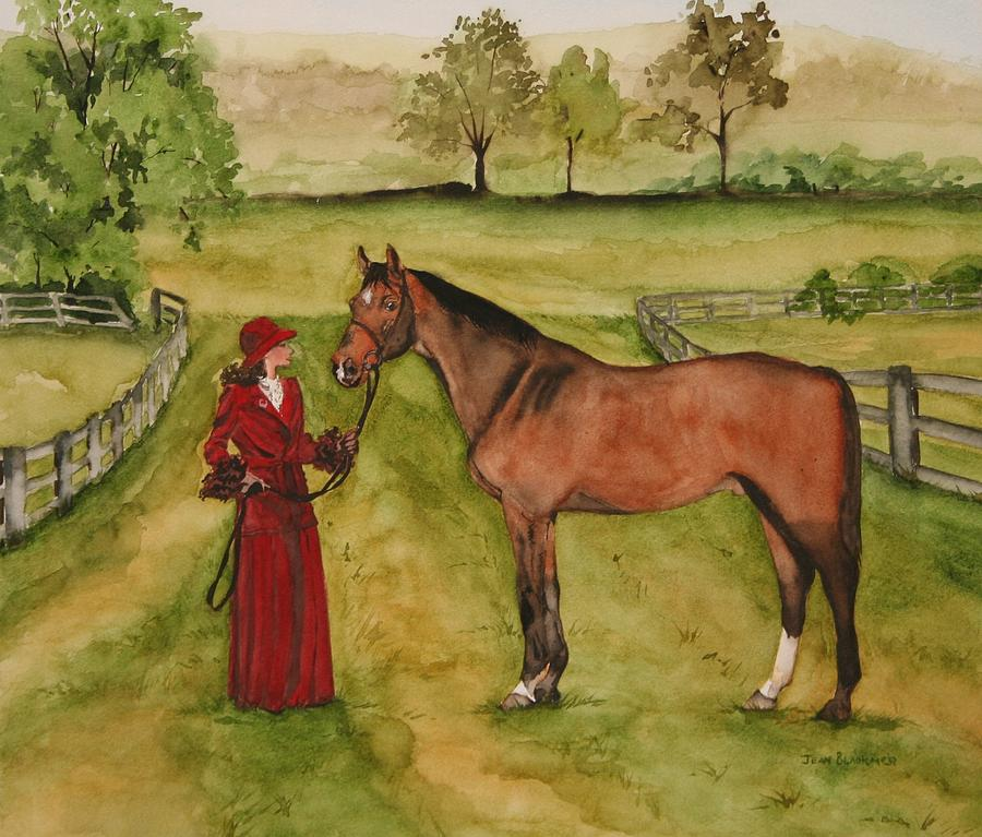 Horse Painting - Lady and Horse by Jean Blackmer