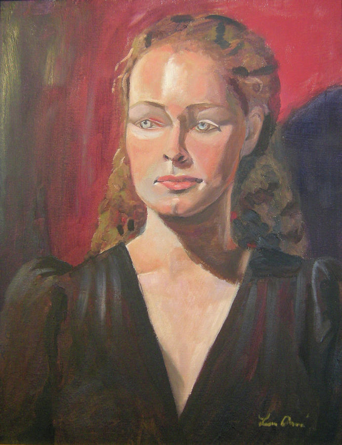 Portrait Painting - Lady Ann by Lilibeth Andre