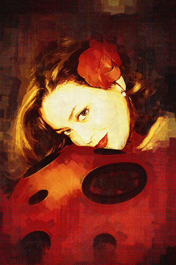 Portrait Digital Art - Lady Bug by Holly Ethan