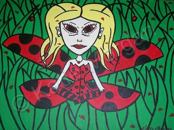 Lady Bug Painting - Lady Bug by Katie Morgan