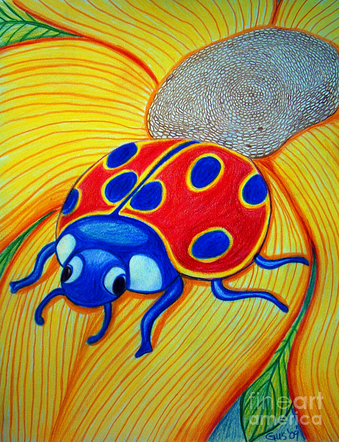 Lady Bug Drawing - Lady Bug by Nick Gustafson