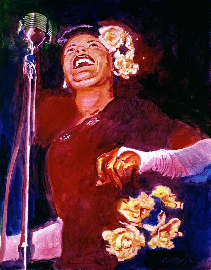 Jazz Painting - Lady Day - Billie Holliday by David Lloyd Glover
