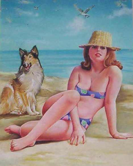 Landscape Painting - Lady Dog by A Sayed