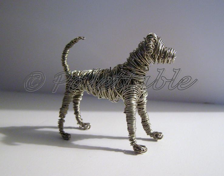 Wire sculptures of dogs images for Dog wire art