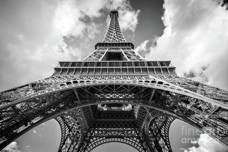 Eiffel Tower Photograph - Lady Eiffel by Delphimages Photo Creations