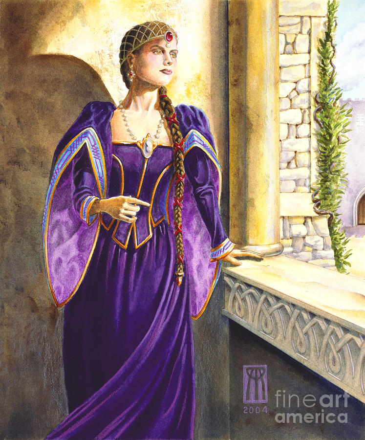Camelot Painting - Lady Ettard by Melissa A Benson